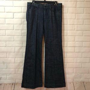 7 for All Mankind Dojo Dark Wash Flare Jeans